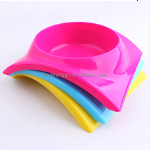 Pet feeder pet accessories PP material arched single bowl pet food bowl
