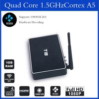 android T8 metal iptv box 2GB 8GB Quad core Android T8 smart tv box with Kodi XBMC
