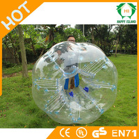 Competitive price durable clear soccer bubble ball,inflatable football bubble ball, inflatable human sized soccer bubble