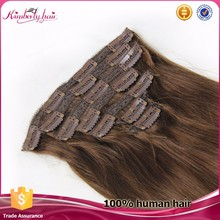 High quality 100% remy brazilian 28 inch clip on human hair extensions