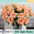 boa qualidade de flores de seda cor de pêssego