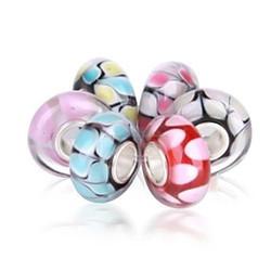 Strollgirl jewelry pastel dot murano glass bead bundle set fit bracelet charm wholesale