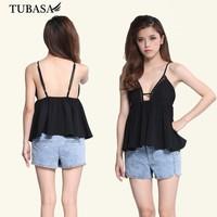 guangzhou ladies clothing black box pleat peplum top black, blusa cropped, clothes online