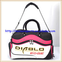 fashionable design water proof shoulder strap,carrying handles leather travel golf bag