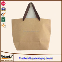 pantone color printing kraft paper shopping bag kraft brown paper bag kraft paper gift bags with handle