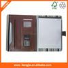 2015 A4 PU Document Organiser Folder With Zipper Closure and Calculator