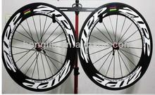 Cool!!! Fixed gear roues en carbone de carbone, pneu de carbone 88mm/tubulaire roues zipp 808