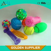 Rubber bone shape squeaky toys for dog