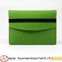 Functional A4 size felt document bag folder with elastic band for promotion
