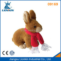 09169 Plush and stuffed Rabbit with Scarf