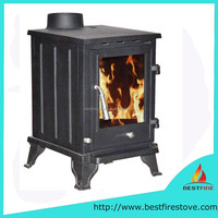 Matt Black Cast Iron Wood Burning Stove For sale