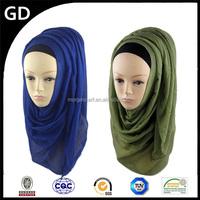 GDHH0134 Latest party wear scarf 2015 alibab yiwu infinity cheap plain viscose hijab