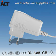 CE approved UL listed 12v 12w eu power adapter