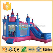 Princess Inflatable1000 ft slip n slide inflatable slide the city/Inflatable Jumping Castle kids outdoor games