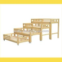Children Furniture Classic Design Wooden Bed Mdf Board Bed