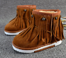 d10180b child shoes for girls korean fashion tassel shoes baby winter snow boots shoes