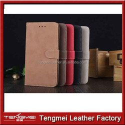 Retro Book Cover Dull Polish Cover Leather Case for iPhone 6, for iPhone 6 Leather Case