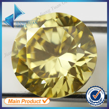 Beautiful Color Gemstone Fortune Stones 20mm yellow cz cubic zirconia