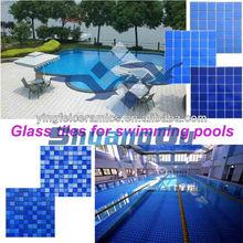 blue swimming pool tile Hot sale both glass mosaics and ceramic mosaics