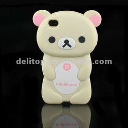 Cute 3D Rilakkuma Bear Hard Back Case Cover Skin For Apple iPhone 4 4S Rice
