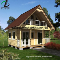 prefabricated timber frame 2 bedroom residential house