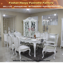 2015 fancy wooden dining table, white wooden dining set, table chair