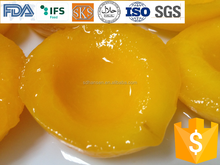 top level#83-cling variety canned yellow peach in syrup half in tin 425g- stock&good price