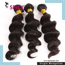 Wholesale grade 6a best quality cheap unprocessed raw virgin wet and wavy mongolian human hair
