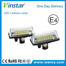 Car parts LED license plate light Auto led number lights for Toyota Crown Car with E4 E-mark approval