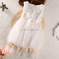 White plain pure lovely baby girls rose dress