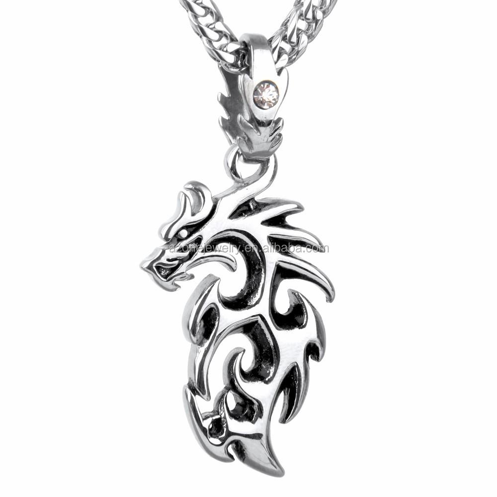 Cabeça do dragão Animais Pingente Jóias Em Aço Inoxidável Mens Jóias