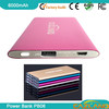solar mobile phone charger 6000mah battery power bank charger