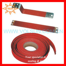 Flexible heat resistant heat shrink tube for bus bars