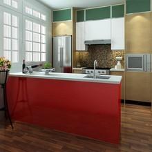 proyecto de américa modular roja de las islas de cocina diseños de gabinete
