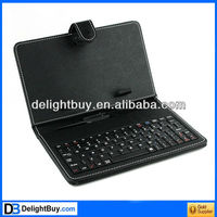 Black Leather Case with Micro USB Interface Keyboard for 7 inch MID Tablet PC
