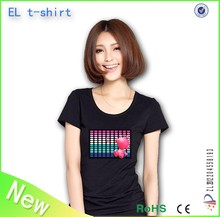 2015 New designs led t shirt lighting t shirt with more than 2000 designs
