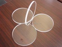 Customized classical round edges clear quartz glass plate