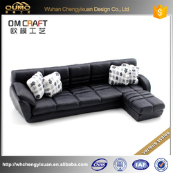 polymer clay office leather sofa model for commercial building display