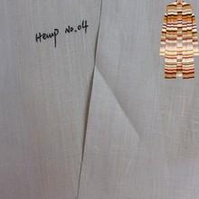 wholesale natural thin grey organic hemp fabric