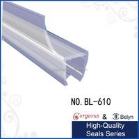 Glass sliding shower door rubber seal strip, 2.2 meters, 8 mm to 12 mm