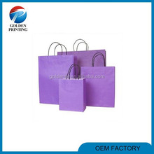 Hot sell customized logo fashion small gift bags purple
