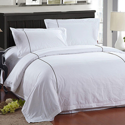 Hotel Flat Sheet Set White 100% cotton 300 TC satin 208*280cm queen bed (SQNC2015051123)