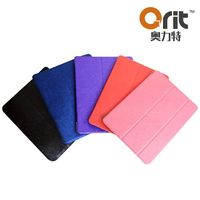 "leather case for ipad with three folds 9.7"" tablet case leather 10 inch leather case for ipad"