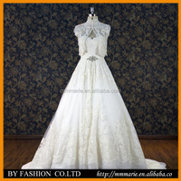 Two pieces Heavy Beaded Ball gown lace Chinese A line wedding dresses BYB-14665