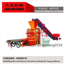 QTJ4-26 customized multifunction cement block moulding machine small automatic brick production line cost price
