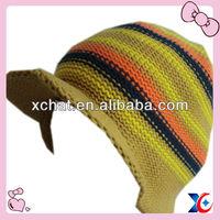 100% acrylic teenagers knitted baseball hat