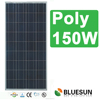CE TUV ISO full certified high quality Bluesun hot seller poly 150w solar panel cheap