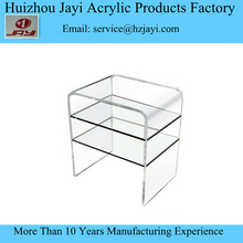 Clear white acrylic lucite lcd tv cabinet model