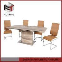 Classtic MDF material dining room pictures of 8 seats wooden dining table