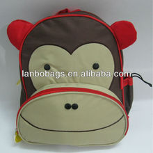 funny animal de niños de la escuela mochila bolsa
